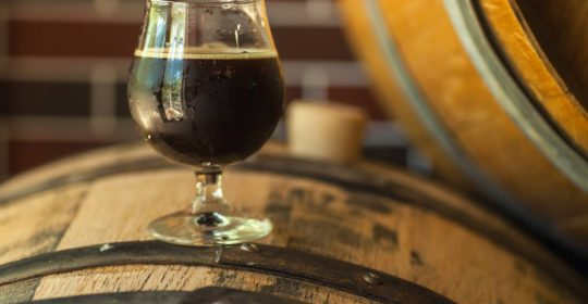 A photo of a beer or cold brew coffee beverage Photo copyright Hopwired Festival